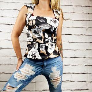 {WHBM} sleeveless rose blouse